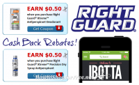2 NEW Right Guard Rebates on Ibotta + Dry Spray MONEYMAKER!