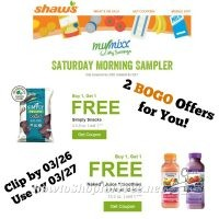 Saturday Morning Sampler at Shaw's – 2 BOGO Offers for You! ~ Good Through 03/27 (Clip by 03/26)