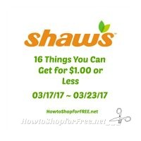 16 Items You Can Get for $1.00 or Less at Shaw's 03/17/17 ~ 03/23/17!