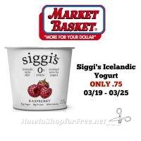 Siggi's Icelandic Yogurt ONLY .75 at Market Basket 03/19 ~ 03/25!