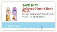 **HOT**NEW Printable Coupon** $0.75 off one Softsoap brand Body Wash