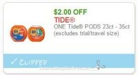 $2.00 off one Tide PODS ~Print Now, ICYMI