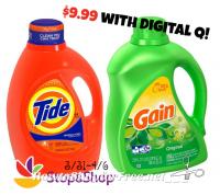 $9.99 Tide/Gain Liquid or PODS/Flings! ~Stop & Shop (3/31-4/6)