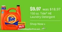 TODAY ONLY ~150oz. Tide for $9.97, No Coupons Needed!