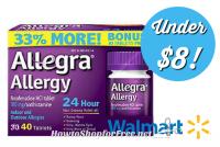 40ct. Allegra 24HR Allergy Relief $7.96 @ Walmart, thru 3/30