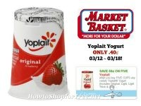 Yoplait Yogurt ONLY .40 at Market Basket 03/12 ~ 03/18!