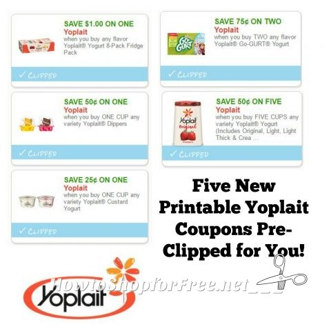 graphic relating to Yoplait Printable Coupons called Refreshing Printable Coupon codes** 5 Yoplait Yogurt Discount codes Pre-Clipped