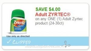 new printable coupon 400 off one adult zyrtec