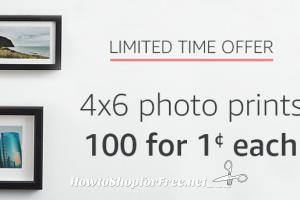 100 Amazon Photo Prints, Only 1¢ each! (thru 3/12)