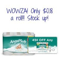 ANGEL SOFT 12 ROLLS AS LOW AS $2.22 at CVS 03/26-04/01!!!