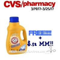 Wow! Free Arm & Hammer Detergent + .52¢ MM AT CVS(3/19/17-3/25/17
