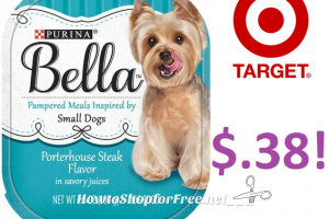 Bella Small Dog Food only $.38 at Target!