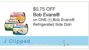 $0.75/1 Bob Evans® Refrigerated Side ~HOT Doubler!