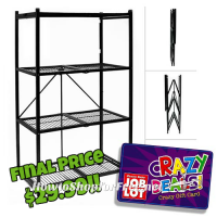 50% OFF Origami Folding Steel Shelf with Crazy Deal!