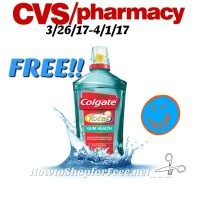 FREE!!! Colgate Mothwash at CVS (3/26/17-4/1/17)