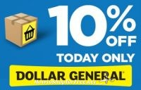 Today Only, 10% off Dollar General Online Orders!!