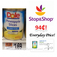 Dole Canned Pineapple only $.94 at Stop & Shop!