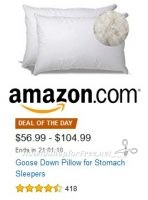 *SALE* Goose Down Pillow for Stomach Sleepers ~Deal of the Day