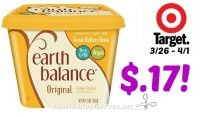Earth Balance Buttery Spreads Only $.17 at Target! 3/26 – 4/1
