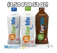 52oz. Fairlife Milk for $2.50 at Walmart with Coupon!