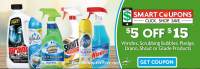 $5 off $15 Top Cleaning Brands ~ Family Dollar Smart Coupon