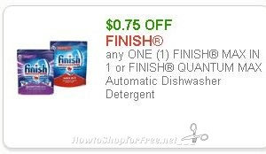 *** HOT!!! New Printable Coupon ***  $0.75/1 Finish Dishwasher Detergent!!!