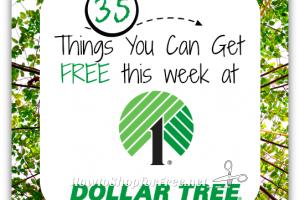 35 Freebies at Dollar Tree, through 4/26!