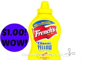 Hot Deal! French's Mustard only $1.00 at Stop & Shop! (3/10/17-3/16/17)