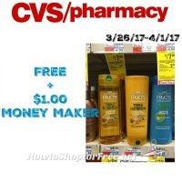 FREE + $1.00 MM on Garnier Fructis Shampoo & Conditioner at CVS (3/26/17-4/1/17)