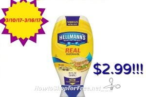Hot Deal Hellmanns Mayo only $2.99 at Stop & Shop! *New*
