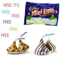 FREE HERSHEY'S KISSES, EGG MINIATURES OR CADBURY MINI EGGS 7-15oz 2/$6 CVS 03/26-04/01