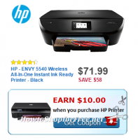 $61.99 HP Envy Wireless Printer @ Best Buy, thru 3/4 ~ Save $68!!