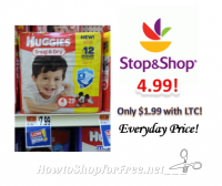 Huggies Diapers only $4.99 at Stop & Shop!
