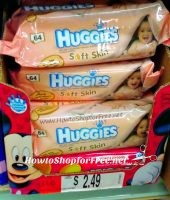 $1.25 Huggies Baby Wipes 56-64ct at Job Lot!