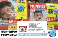 Huggies Diapers $4.97 at Walmart w/ NEW Q!