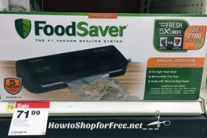 Foodsaver Vacuum Sealing System only $42.59, Reg. $79.99 at Target! 3/12 – 3/18