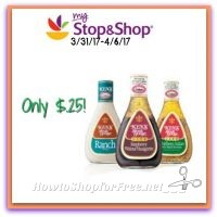 WOW Kens Dressings Only $.25 at Stop & Shop! (3/31/17-4/6/17)