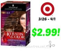 Schwarzkopf Color Ultime or Keratin Color Hair Color Only $2.99 at Target! 3/26 – 4/1