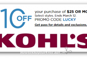 GO GO GOOO.. Hot $10 off $25 Kohl's Coupon!!!