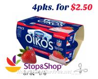 Dannon Oikos 4pks. for $2.50 @ S&S! (3/31-4/6) ~Healthy Sweet Treat!