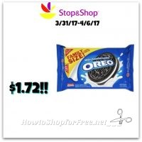 Wow Nabisco Family size Oreo packs only $1.72 at Stop & Shop(3/31-4/1)