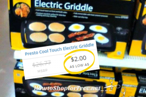 Presto Cool Touch Electric Griddle as low as $2.00 ~RUN!