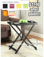 50% OFF Folding Tray Table +Ships FREE!! (Comes in 4 Colors!)