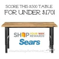 6ft. Hardwood Workbench 74% OFF with Sale + SYWR!