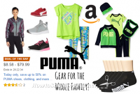 Today only, Up to 50% off PUMA shoes, clothing, and more!