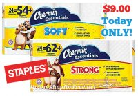 Today Only~ $9 Charmin Essentials 24pk from Staples!