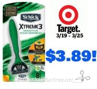 Schick Men's Disposable Razors, 8 ct Only $3.89 at Target! 3/19 – 3/25