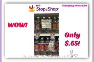 Hot Deal! Schweppes Sparkling Water only $.65 at Stop & Shop! Everyday Price-$.99