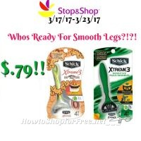 Wow Schick Disposable Razors only $.79 at Stop & Shop! (3/17/17-3/23/17)