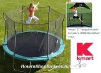 12′ Trampoline+FREE Basketball Hoop $166 from Kmart! ($400 Value)